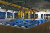 Na vizualizaci zrekonstruovaného bazénu na Klíši je vidět přístavba k současné plavecké hale.