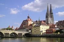 Pohled na Regensburg.