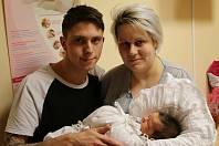Daniel Žďárský se narodil Dominice Skokové z Duchcova 17. ledna 2019 v 8.22 hod. Měřil 53 cm, vážil 3,85 kg