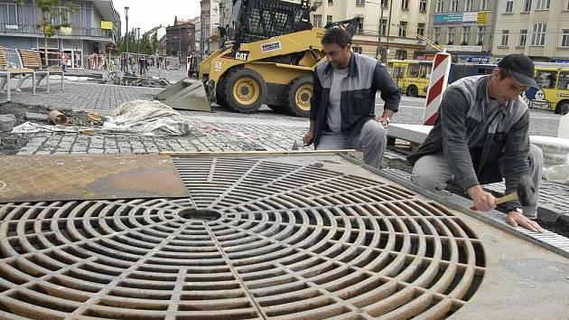 Oprava kašen na Mírovém náměstí