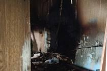 Požár bytu v Ústí nad Labem.