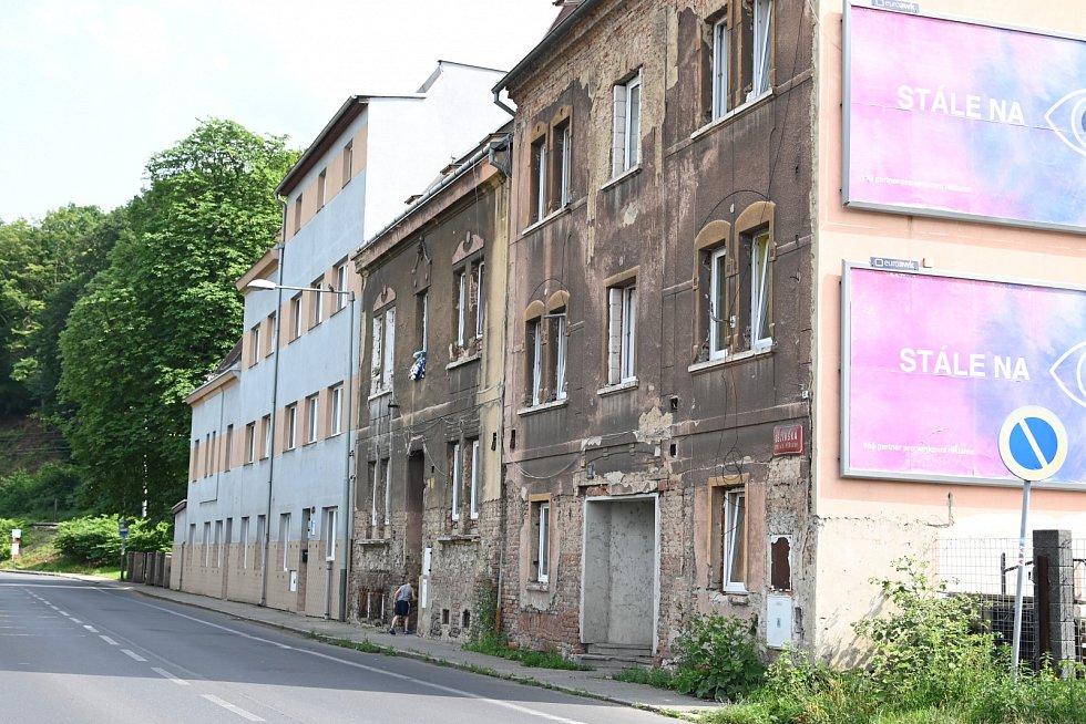 Ubytovna v ulici Děčínská ve Střekově.