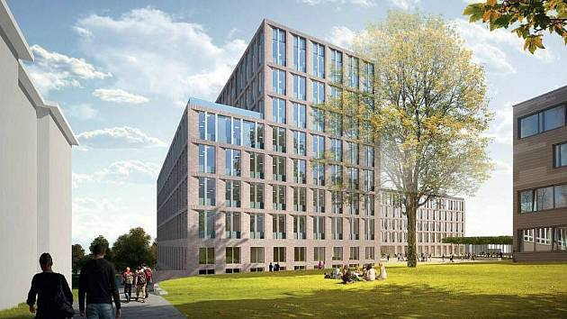 VÍTĚZEM ARCHITEKTONICKÉ SOUTĚŽE na novou budovu Centra přírodovědných a technických oborů UJEP se stali architekti z brněnského studia Pelčák a partner.