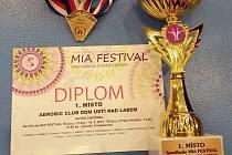Aerobic club ústeckého Domu dětí a mládeže přivezl 12 medailí.