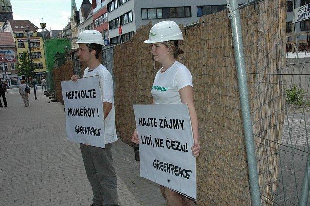 Greenpeace v centru Ústí