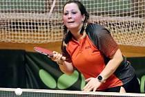 Stolní tenis 1. liga - hráčky SKP Sever Ústí n/L v utkání proti Hrádku zvítězily 9:1. Martina Smíšková