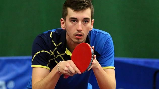 Stolní tenista Jakub Seibert.