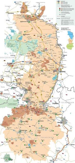 Mapa regionu.