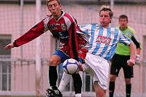 Po výhře v Čáslavi, ke které přispěl brankou i Veverka (na snímku vlevo), hostí dnes fotbalisté Ústí Sokolov.