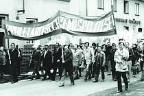 Oslavy 1. máje v Tisé v roce 1979.
