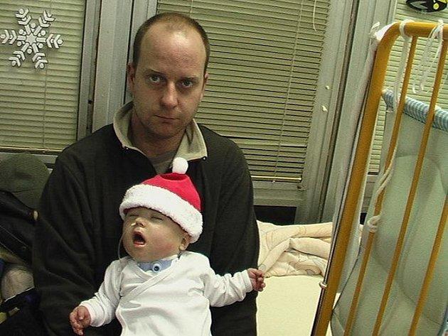 Jako Santa s tátou.