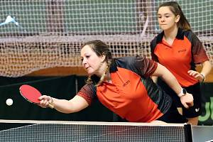 Stolní tenis 1. liga - hráčky SKP Sever Ústí n/L v utkání proti Hrádku zvítězily 9:1.