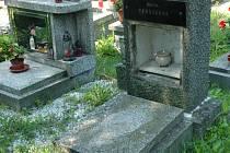 Hrob ve Vaňově, kde je pochovaná rodina Petra Šimona, poničili zloději barevných kovů. Ukradli mosazná dvířka a urnu s ostatky jeho bratra.