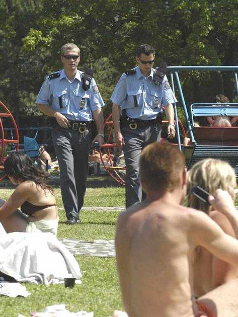 Policejní hlídky v Brné