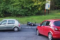 Vážně vyhlížející nehoda zaměstnala policisty.