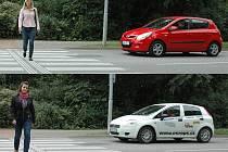 Blondýnku Evu Růžičkovou (horní snímek) pustili 3 řidiči z 20, brunetku Simonu Herynkovou 6.