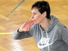 Trenérka Slovanu Chabařovice Marcela Bromová.
