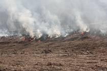 Vypalování trávy. Ilustrační foto.