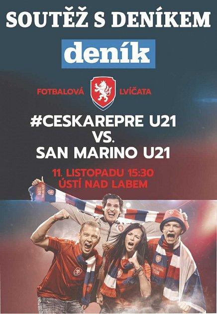 Vyhrajte lístky na zápas české reprezentace U21.