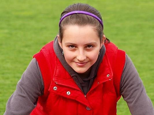 Kristýna Kopečná  teď musí dělit čas mezi atletiku a starost o svého koníka