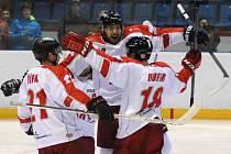 Ústečtí hokejisté (modří) prohráli na ledě Olomouce 3:6.