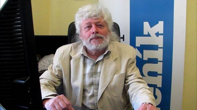 František Šmahel při online rozhovoru v redakci Ústeckého deníku.