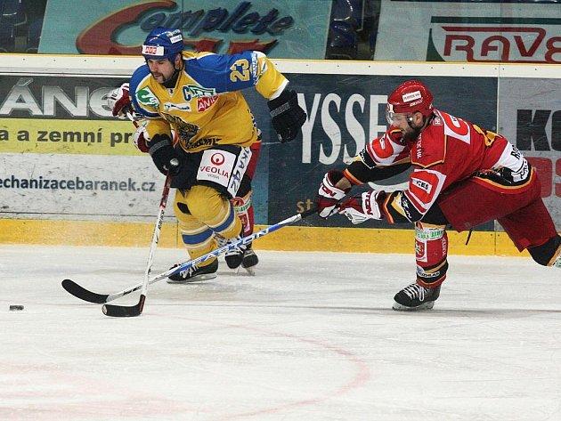 Ústečtí hokejisté rozstříleli ve druhém semifinálovém klání 1.ligy  Hradec Králové vysoko 9:1.