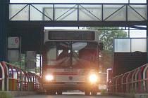Bus na ústeckém autobusovém nádraží