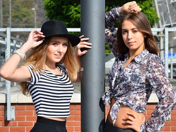 VKALENDÁŘOVÉ SOUTĚŽI onejpovedenější fotografii zvítězily Valentýna Blažečková (vlevo) a Kateřina Petrásková.