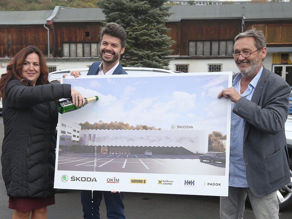 Představení projektu nového zimního stadionu v Ústí nad Labem.