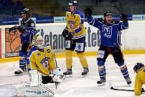 Ústečtí hokejisté (žlutí) doma podlehli Havířovu po boji 5:6.