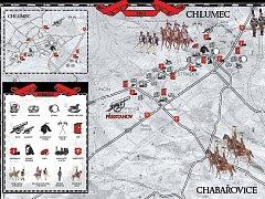 Situační plánek přehledně ukazuje nejen pohyby historických vojsk, ale i rozmístění itineráře pro návštěvníky. Hlavním bodem programu je rekonstrukce bitvy v sobotu 31. srpna 2013 od 16 hodin, do které se zapojí osm set vojáků.