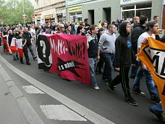 Prvomájový pochod v Ústí nad Labem.