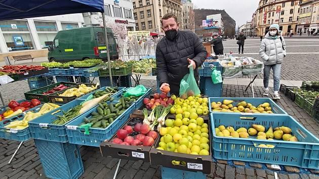 Farmářské trhy na Mírovém náměstí v Ústí nad Labem
