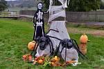 Halloweenská výzdoba Bžany.