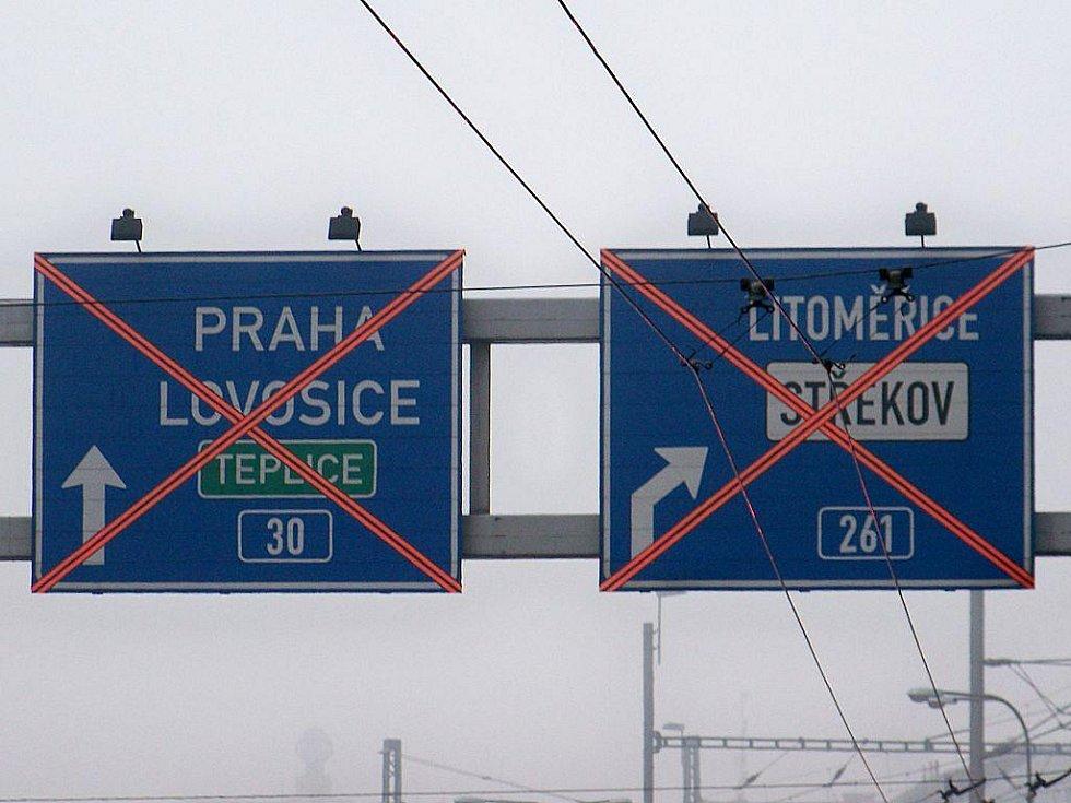 Doprava v Ústí nad Labem zkolabovala.