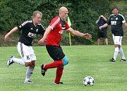 předkolo MOL Cup, Brná-Zbuzany, 16.7.2017Heřman, Brná (vpravo)(foto: Deník/Rudolf Hoffmann)