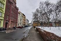 Obvod Střekov v Ústí nad Labem. Dolní Střekov, k radnici