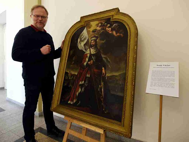 Ústečané mohou nyní výjimečně vidět svého patrona na obraze, který vystavuje muzeum jako exponát měsíce.
