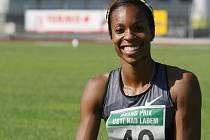 Vítězka běhu na sto metrů žen Alexandria Andersonová.