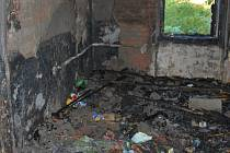 Požár vybydleného domu v Předlicích.