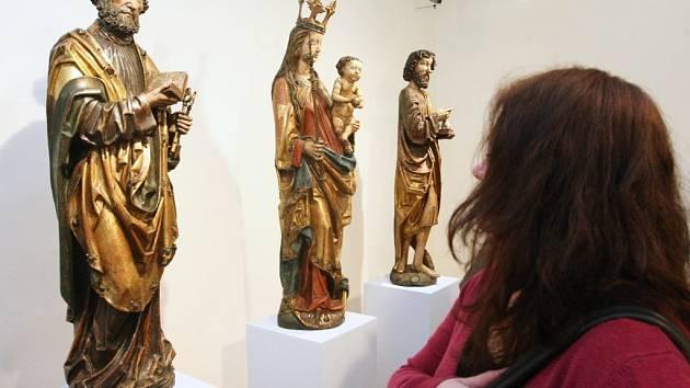 Skutečně nabito bylo při vernisáži výstavy Gotické umění Ústecka ve čtvrtek 14. února v Severočeské galerii výtvarného umění v Litoměřicích.