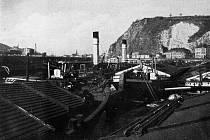 Ústecký přístav ve dvacátých letech