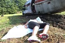 Námětem cvičení záchranářů byla nehoda dopravního letadla.