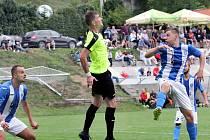 Fotbalisté Brné (zelenočerní) po dramatickém boji podlehli Mostu (modrobílí) 3:4.