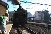 Císařský vlak vezl v sobotu Ústečany na slavnosti do Kadaně.