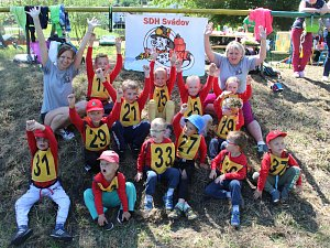 Děti  ve věku 3 až 6 let soutěžily v požárním sportu ve Svádově