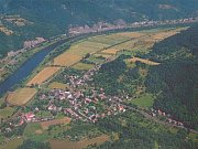 Malé Březno, letecký pohled.