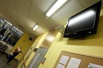 LCD televize v ústecké Masarykově nemocnici.