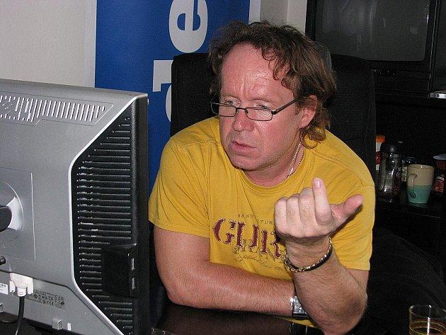 Petr Rosol při online rozhovoru Deníku.